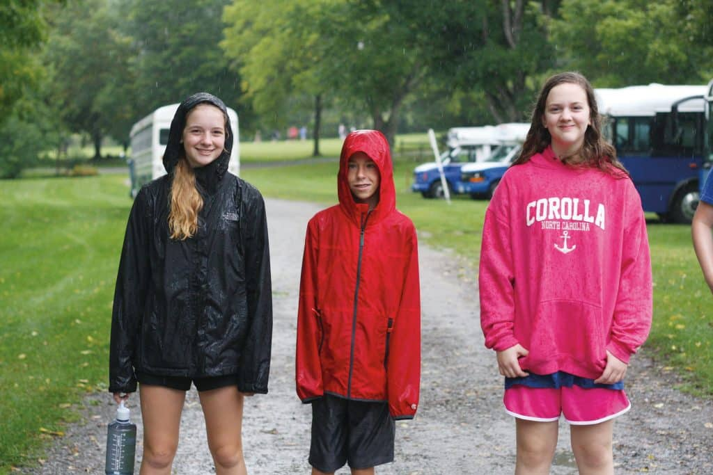 A steady downpour didn't dampen School Day Out at Highland Retreat for grades 9-12, a time of building friendships to launch the new year.
