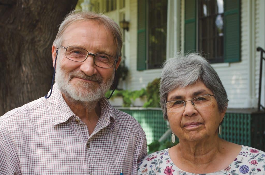 D. Keith '55 and Ellen Slabaugh '55 Helmuth, recipients of the Lifetime Service Award for 2020.