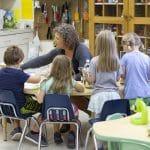Lynette Mast with kindergarten class