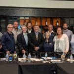 Dave Bechler recognized by VISAA executive committee, May 2019.