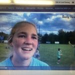 Watch an interview with Caroline Hayes, goalkeeper, with the Daily News-Record