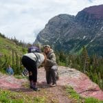 Alesha Melendez '15 joined the group mid-point to chaperone. Nevin Lehman '15 surprised her on the trail in Glacier National Park. She said yes!