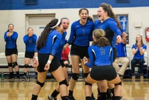 Blue Ridge Conference volleyball champions, fall 2015