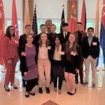 Model UN participants 2020 with sponsor Shannon Roth, front left