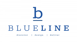 Blueline Stack Logo with Text 2019