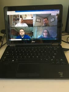SLT meeting via Zoom during the COVID'19