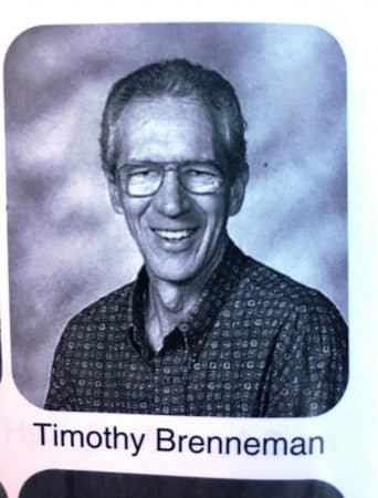 Timothy Brenneman, 1951-2020, in the 2010 Ember yearbook