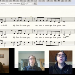 Jared Stutzman singing parts for virtual choir invitation