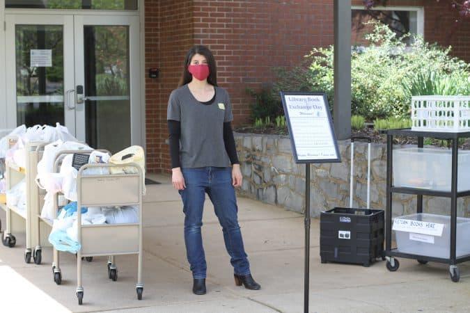 Julianne Ross, COVID-19 library exchange day