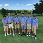 2019 Golf Team posing after the VIC Match 2019