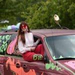 Afton Rhodes-Lehman '20, senior parade