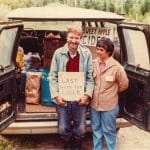 Keith and Ellen Helmuth ready to leave for the Farm Market, June, 1983.
