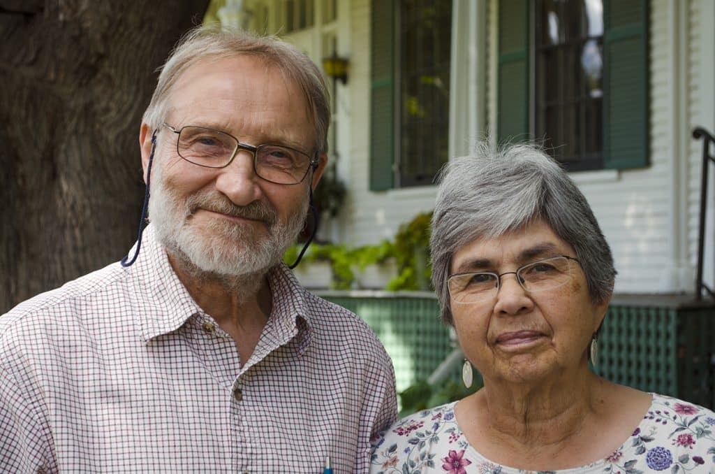 Keith and Ellen Helmuth, class of 1955, recipients of the school's Lifetime Service Award for 2020
