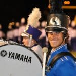 Nick Gardner with the JMU Marching Dukes