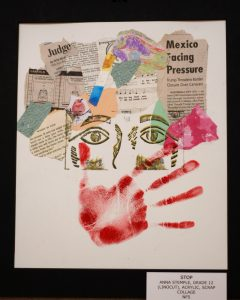 Anna Stemple, 12, Stop, Mixed Media Collage