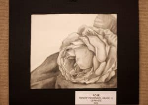Anneke McDonald, 11, Rose, Graphite on Pencil