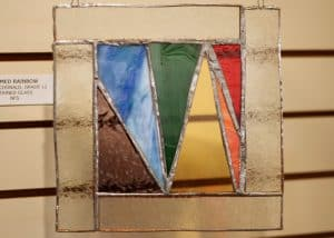 Hans McDonald, 12, Framed Rainbow, Stained Glass