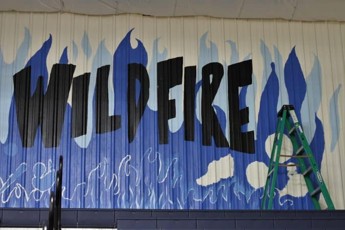 Wildfire mural in development. Photo: Courtesy Windsock