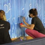 Wildfire mural painting