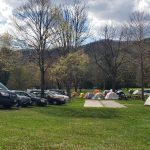 Tenting at Highland Retreat kept people safely ensconced but cold!