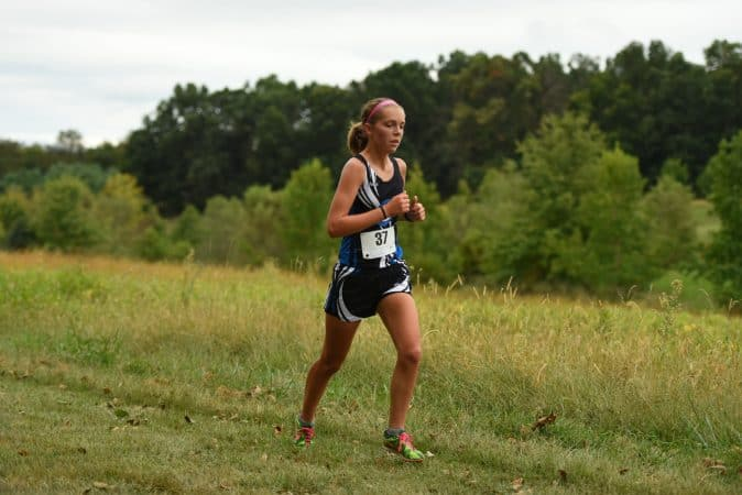 Halie Mast '21, cross country competition