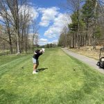 Golf and Business at Fisher Mountain Golf Course, Pendleton County, W. Va.