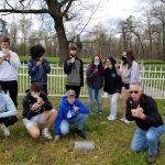 Jesse James Bank Mennonite Church Cemetery blowing dandelions April 19, 2021 E-term