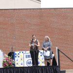 Jessica Seibert shares a prayer during 5th grade graduation 2021